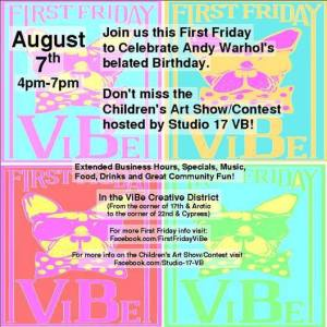 Come out and join us for First Friday ViBe!